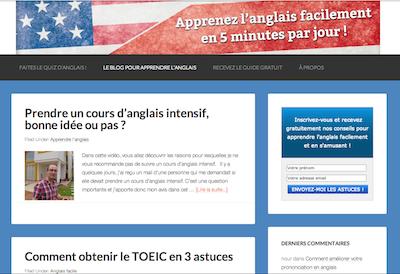 Mon blog sur comment apprendre l'anglais qui génère 1000 euros par mois